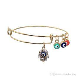 Compra Online Malos encantos ojo azul-Bling Bling de la joyería de la mano de Hamsa azul Turquía del ojo malvado de la pulsera del encanto afortunado del encanto de la pulsera amuleto brazalete de la manera de la venta caliente