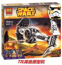 Wholesale Bela Star Wars The Force Awakens TIE Advanced Prototype Building Blocks Baby Toys Minifigures Compatible