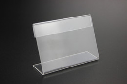 Wholesale 10X8cm acrylic desk table tablet stands sign banner name card showing stand acrylic price list label menu holder