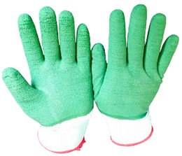 Raised Grain Latex Working Protective Glove Knitted Cuff Latex Safety Glove Labor Protective Wrinkle Glove Slip-Proof Gloves