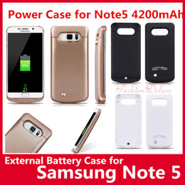Wholesale 4200mAh Power Case for Samsung Note5 External Battery Case Portable Backup Charger Case Power Bank Case Pack for Note UPS