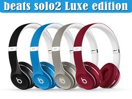 Wholesale Amazing Sound Used Beats Solo2 wired Luxe Edition collection Headphones Noise Cancel Headphones Headset Refurbished with seal retail box