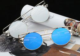 Brand New Double Circle Round Ladies Mirror Sunglasses Lenses Shiny Metal Sunglasses Women Black With Box Glasses UV400