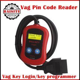 Wholesale Free dhl VAG PIN Code Reader Key Programmer VAG KEY LOGIN for Audi Seat Skoda vag key programmer vag pin reader in stock