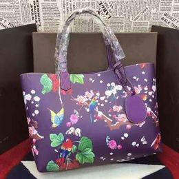 Wholesale Purple Exquisite totem and flowers show the female passion art elegant unique style of the handbag