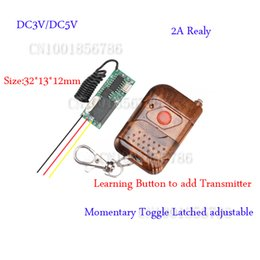 Wholesale DC3V DC5V Remote Control Switch System Mini Volume Transmitter Receiver Add Transmitter Easy Momentary Toggle Latched Adjust