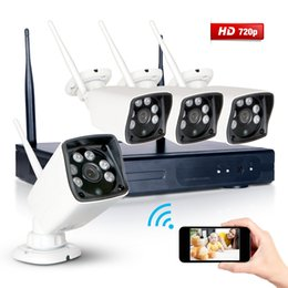 Wholesale Waterproof Outdoor Indoor CH Wireless WIFI NVR P HDMI VGA IP Network IR Array Night Vision CCTV Home Security Camera System