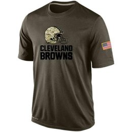 Wholesale Browns T Shirts cheap rugby football jerseys Cleveland Salute To Service Banner Wave Black Gold Collection Tshirts freeshipping