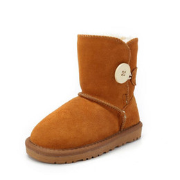Wholesale hot sale winter kids snow boots boys girls real cowhide Australian boots waterproof warm children Cotton Boots