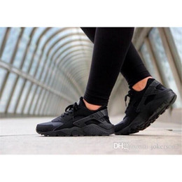 With Original Box 2015 New Air Huarache Mens Sneakers Black White Sneakers Lightweight Running Shoe Huaraches Size