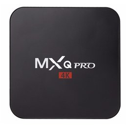 Wholesale 4K MXQPRO Best Internet TV Boxes Free Google Smart TV Box Core GPU Support USB AND Wifi