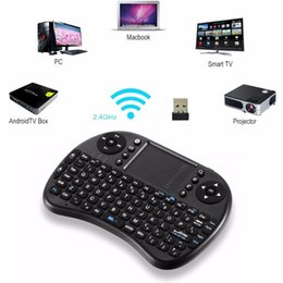 Canada 2016 Mini clavier i8 sans fil 2,4 GHz lettres russes Air Mouse Touchpad télécommande pour Android TV Box Notebook Tablet Pc remote control for tablet android for sale Offre