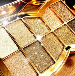 Wholesale 1 set Pretty Graceful Women Ladies color Diamond Shine Eye Shadow Palette Makeup kit Styles You can Choose Best Gift