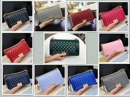 Wholesale Silicone Handbag Pouch Quilted Flap Le Boy Jelly Clutch Shoulder Chain Bag Club colors
