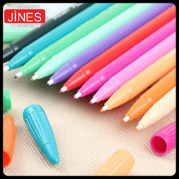 24 pcs lot 24 colors Water color pen brush Marker Highlighter Stationery markers art supplies material school office tool