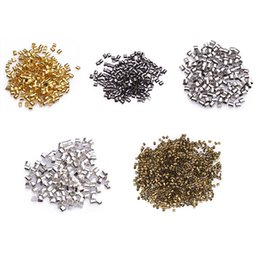 Wholesale mm Metal Tube Crimp End Beads for DIY Jewelry Making Bracelets Necklaces