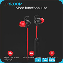 Wholesale JOYROOM Bluetooth Headset Sport Earphone Bluetooth Headphone with Mic and Magnetic Adsorption For smartphones and tablets and Other Blue