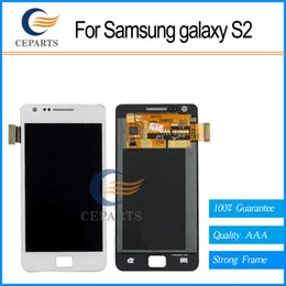 White For Samsung Galaxy S2 i9100 lcd display touch screen with digitizer glass assembly + Tools replacement fast shipping