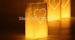 2017 sacs ignifuges Coeur Décoration de fête d'anniversaire de mariage sac de papier Candle Sac Luminary Sacs / Fireproof Lantern 1000pcs Shaped # SD3426 160318 # bon marché sacs ignifuges