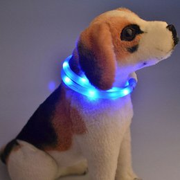 Wholesale LED Dog Collars for Leads Safety Collar for Dogs Pet Glowing Necklace Flashing pet dog cat Leads Waterproof Rechargeable Pet Products B
