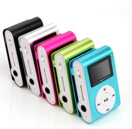 Wholesale New Portable MP3 Music Player LCD Screen Mini Clip Multicolor MP3 Player With Micro TF SD Card Slot Electronic Products