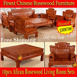 Wholesale promotion discount African rosewood Living Room sofa set Finest China solid wood carving luxury furniture