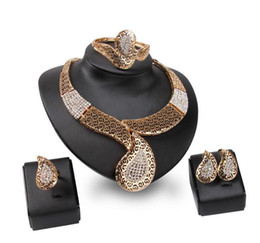 Free shipping women's jewelry sets necklace and earrings rings wedding jewelry sets bridal fashion diamond