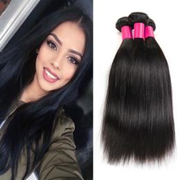 7A Unprocessed Peruvian Virgin Hair Straight 3 Bundles Cheap Human Hair Weaves Brazilian Peruvian Straight Virgin Human Hair Extensions
