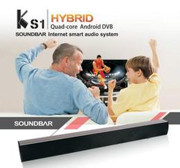 Wholesale HYBRID SOUND BAR KS1 S905 K TV BOX Android DVB Soundbar Amlogic S905 Quad Core G G BT H WiFi HDMI KODI BT Smart Audio System