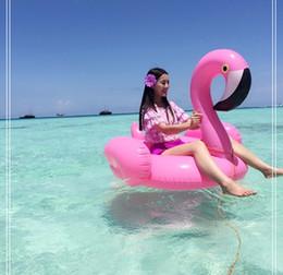 Wholesale 2016 Summer Adult Kids Pink Flamingo Swimming Ring Inflatable Swim Float Water Fun Pool Toys Swim Ring Seat Boat Child Swimming