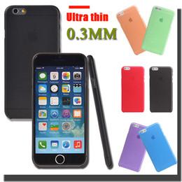 Cas transparents pour iphone 4s en Ligne-Ultra Thin Slim 0.3mm Givré Transparent Etui Effacer Cover Flexible souple PP pour iPhone 7 6 6S plus 4,7 5,5 pouces SE 5 5S 4 4S MOQ: 100pcs