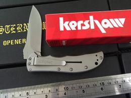 kershaw Cryo II A O Folding blade Knife 3655TI 8Cr13Mov stainless steel plain Flipper frame lo Tactical knife pocket knife knives
