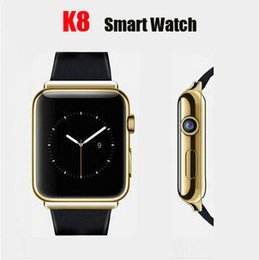 Wholesale Bluetooth Smart Watch K8 Android OS with M pixels Webcam Wifi FM for Samsung Huawei Xiaomi Android Smartphone Support SIM Card GPS
