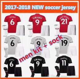 men kit 2017 POGBA LUKAKU 17 18 Man United POGBA Soccer Jerseys United home away 3RD Rooney Rashford MATA Mkhitaryan football shirt