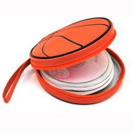 Wholesale Malloom Basketball shape CD Game DVD PU leather Disc bag Organizer Wallet Storage Sheet Case Holder Carry Bag