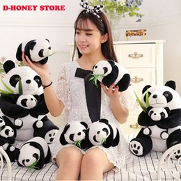 Promotion oreillers panda en peluche 28CM Assis Mère et Bébé Panda Peluche Jouets Peluche Panda Poupées douces oreillers enfants jouets Bonne Qualité Livraison gratuite