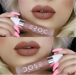 Wholesale 2016 Best Quality Dose Of Colors Liquid Matte Lipstick Waterproof Lip Gloss Lipgloss Colors Available