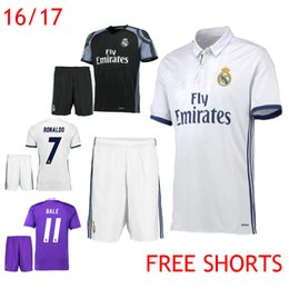 Wholesale 2016 Soccer Jerseys Real Madrid Cristiano Ronaldo Uniform Kits Marcelo Camisetas de futbol Modric Kroos Sergio Ramos Bale Asensio Shirt