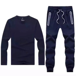 Wholesale casual outfit Sports Suit Nik Casual Tracksuit Training Suit Skinny Pants Winter No Hoddie for Mens Styles Brand Quality Sportswear Sets