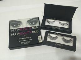 Wholesale Huda Beauty mink collection False Eyelashes Real hair Handmade Fake Eye Lashes Professional Makeup Tip Bigeye Long False Eye Lashes Magnet P