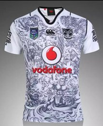 Wholesale NRL National Rugby League New Zealand Warriors new jersey High temperature heat transfer printing jersey Rugby Shirts