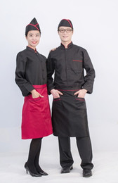 Western Restaurant Chef and Baker long-sleeved unisex medium thickness cotton uniform
