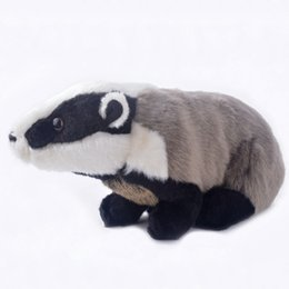 Wholesale Plush Toys Simulation Black Stance Meles Mouse Stuffed Animal Dolls Best Gifts for Girls Kids Boys