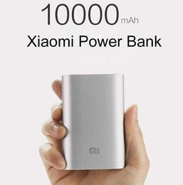Wholesale 100 Original Xiaomi power bank mAh Externe Batterie xiaomi Tragbare Ladegerät für iPhone S S S5 plus