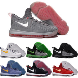 Wholesale Cheaper Kd Shoes - Drop Shipping Wholesale Basketball Shoes Men KD 9 Durant IX Boots Cheap Hot Sale Sneakers High Quality 2016 KD9 Sports Shoes Size 7-12