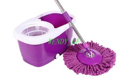 Wholesale Wholesales Rotating Head Double Drived Easy Life Magic Floor Mop PP Bucket Head Squre Style Spinning As Cleaning Tools with Wheels