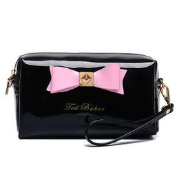 Monederos de las señoras regalos en Línea-Bolso cosmético del embrague de la bolsa del bolso de los bolsos del maquillaje de la señora Travel Maquillaje del caramelo de las mujeres lindas del caramelo Bolso cosmético del regalo del bolso del bolso de los bolsos