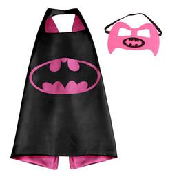 Wholesale Kids Superhero Capes and Masks Superman Batman Spiderman Wonder woman Captain America for Kids Halloween Birthday Dress UP Party