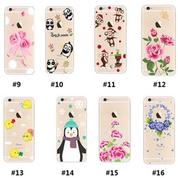 Wholesale Cartoon Animals Picture For Phone S Case Thin TPU Case Full Oil Painting Effect Phone Cases With Retail Package FK C01