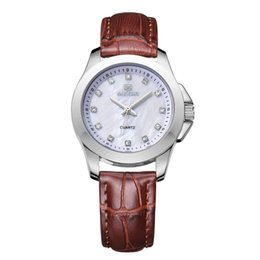 MEGIR Business Watch Women's Luxury Designer Watches Chronograph Leather Military Observer Watches Relogio Masculino MGE43